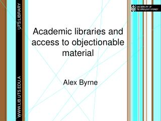 Academic libraries and access to objectionable material
