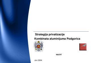 S trategij a p rivati zaci je Kombinata aluminijuma Podgorica NACRT Jun 2004