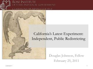 California's Latest Experiment: Independent, Public Redistricting