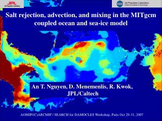 Salt rejection, advection, and mixing in the MITgcm coupled ocean and sea-ice model