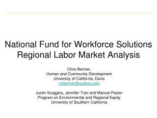National Fund for Workforce Solutions Regional Labor Market Analysis