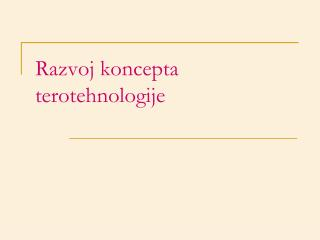 Razvoj koncepta terotehnologije
