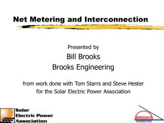 Net Metering and Interconnection
