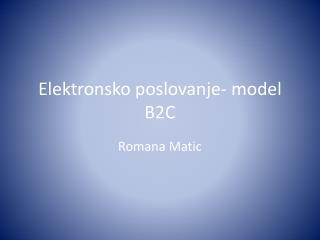 Elektronsko poslovanje - model B2C