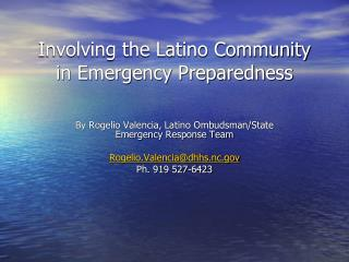 Involving the Latino Community in Emergency Preparedness