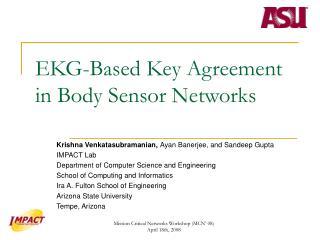 EKG-Based Key Agreement in Body Sensor Networks