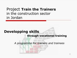 Project  Train the Trainers in the construction sector in Jordan