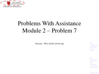 Problems With Assistance Module 2 – Problem 7