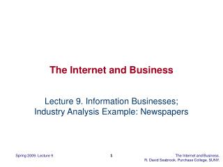 The Internet and Business
