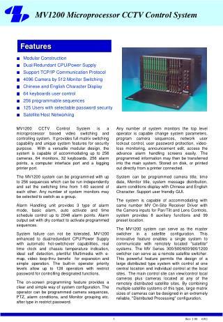 Modular Construction Dual/Redundant CPU/Power Supply Support TCP/IP Communication Protocol