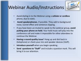 Webinar Audio/Instructions