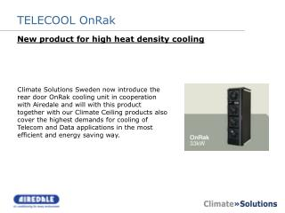 New product for high heat density cooling