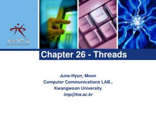 Chapter 26 - Threads