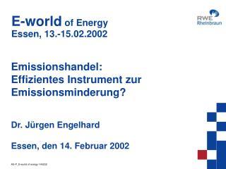 E-world  of Energy Essen, 13.-15.02.2002
