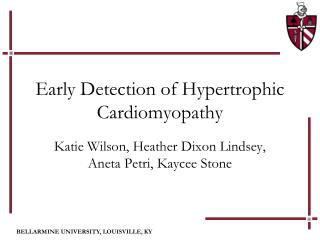 Early Detection of Hypertrophic Cardiomyopathy