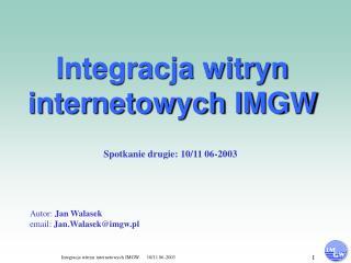 Integracja witryn internetowych IMGW