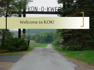 Welcome to KOK!