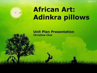 African Art:      Adinkra pillows