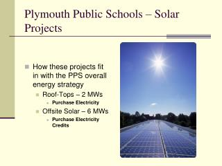 Plymouth Public Schools – Solar Projects