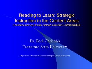 Dr. Beth Christian Tennessee State University