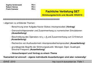 Sophia SchönwaldFB 4 Robert HeinzeFB 4 Frank KameierFB 4