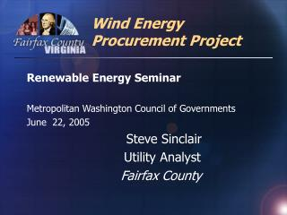 Wind Energy Procurement Project
