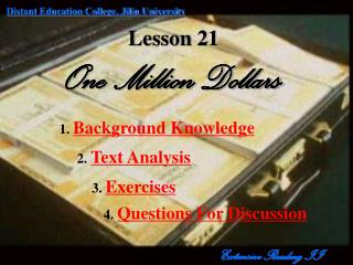 Lesson 21 One Million Dollars