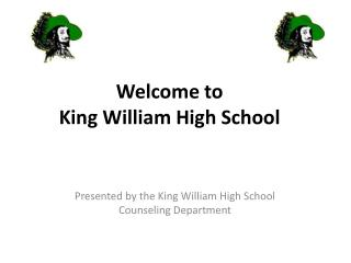 Welcome to  King William High School