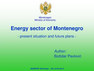 Energy sector of  Montenegro -  present situation and future plans -