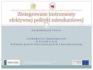 Dr  radosław cyran Uniwersytet ekonomiczny  w  katowicach