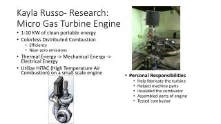 Kayla Russo- Research:  Micro Gas Turbine Engine