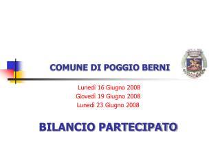 COMUNE DI POGGIO BERNI