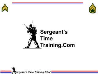 Sergeant s Time Training.Com