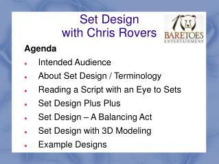 Set Design with Chris Rovers