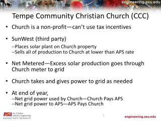 Tempe Community Christian Church (CCC)