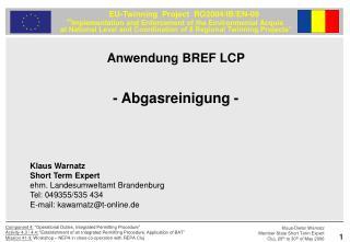 Anwendung BREF LCP - Abgasreinigung -