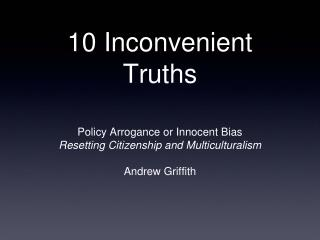 10 Inconvenient Truths
