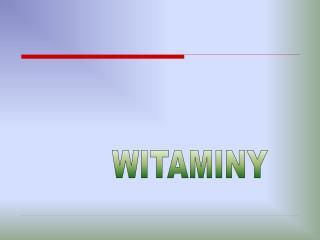 WITAMINY