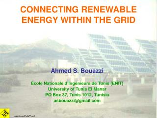 CONNECTING RENEWABLE ENERGY WITHIN THE GRID