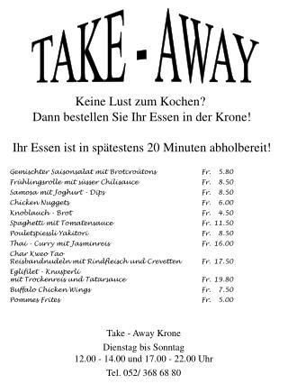 TAKE - AWAY
