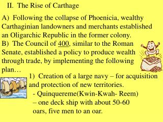 II.  The Rise of Carthage