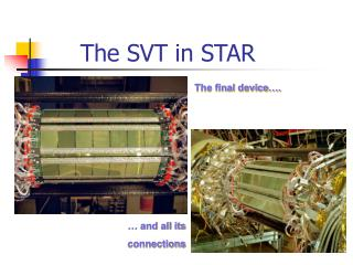 The SVT in STAR