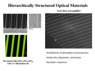 Hierarchically Structured Optical Materials