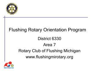 Flushing Rotary Orientation Program