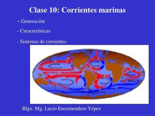 Clase 10:  Corrientes marinas