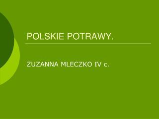 POLSKIE POTRAWY.