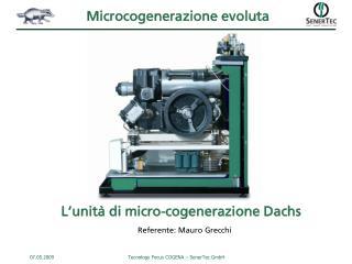Microcogenera zione evoluta