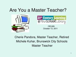 Are You a Master Teacher
