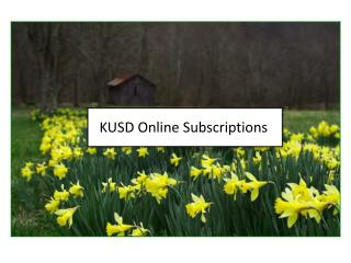KUSD Online Subscriptions