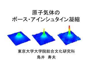 原子気体の ボース・アインシュタイン凝縮